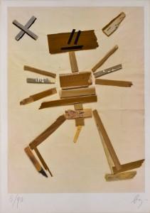 Enrico Baj (Courtesy: Fondazione Giò Marconi) Senza titolo, 1980 Tecnica mista e collage, cm 100x70 Multiplo, 90 esemplari