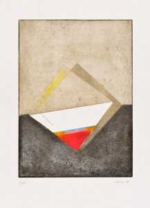 Eugenio Carmi Senza titolo, 1997 Acquatinta su carta a mano, cm 78,3x57