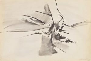 Fausta Squatriti Paesaggio interiore, 1960 Pastello Contè, cm 35,5x51,5