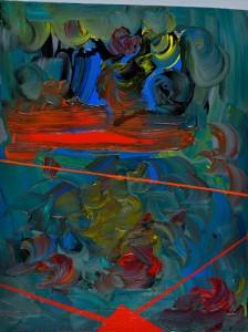 Gigi Rigamonti Fiori sui ponti, 2015 Acrilico, cm 60x80