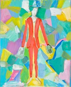Roberto Barni Solitario rosso, 1997 Cartone su cartone olio e acrilico, cm 38,5x31,5
