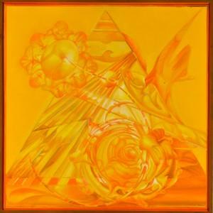 Romano Notari Metamorfosi creazionistica, 2006 Olio su tela, cm 80x80