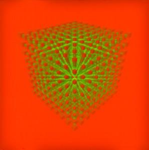 Vincenzo Missanelli Cubogramma perspective RV, 2006 Colore al lattice su tela. Tecnica hp, cm 60x60
