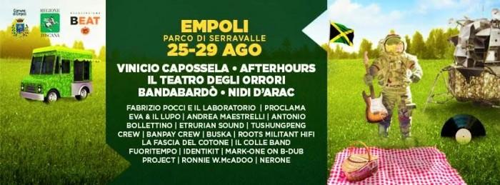 beat festival 2016 empoli concerti muisca live estate agosto toscana festival cibo street food sport parco serravalle