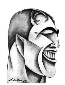 Cleto Capponi_Caricatura di Primo Carnera_ collezione privata