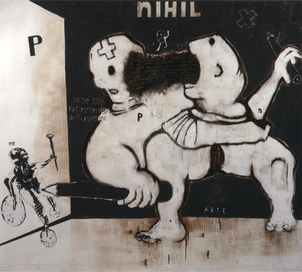 Nihil, 2010, tecnica mista su tela, cm 180x200