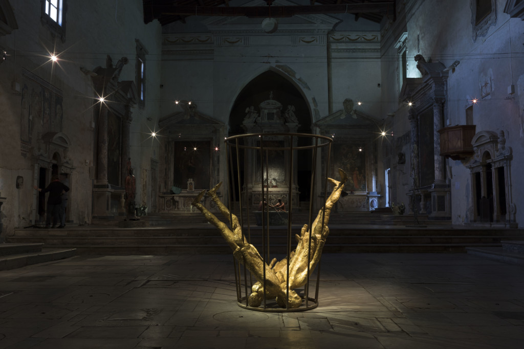 Capogiri d'oro, 2017, bronzo, cm 200x205x185