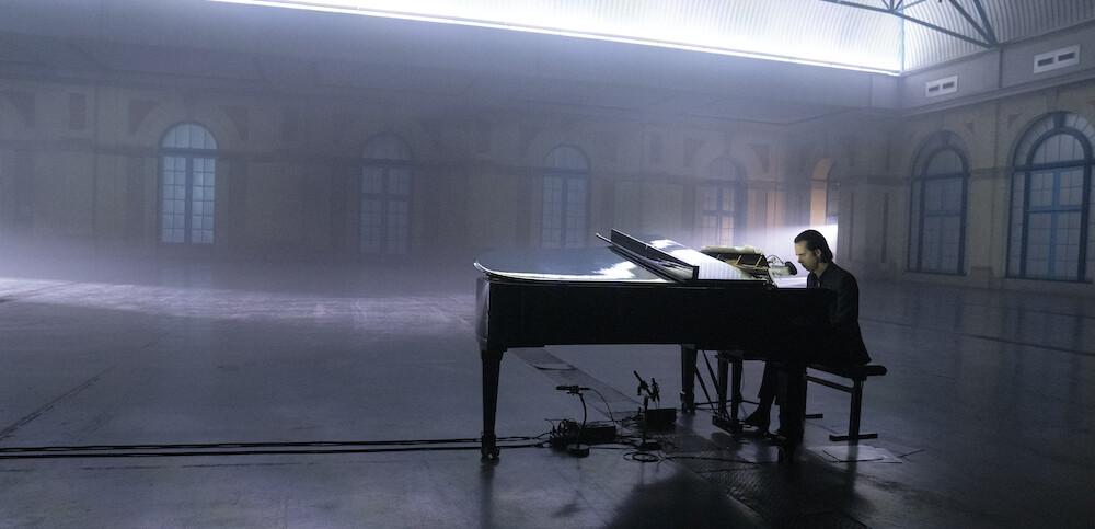 Nick Cave alone at Alexandra Palace