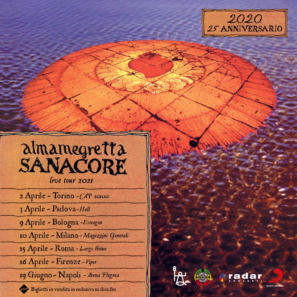 almamegretta tour 2021 per festeggiare i 25 anni dall'album Sanacore