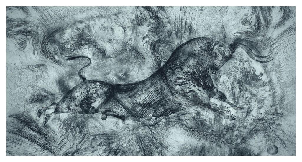 Geush Urvan - Sacrificio del Toro Perenne_Stampa Fine Art _ 120x65cm _ 2021_Riccardo Arena